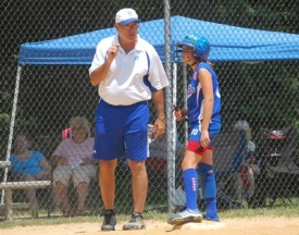 Youth softball coach Jerry Laird's team won the 2008 Babe Ruth World Series.