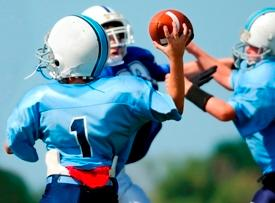 Keep the passes basic in youth football.