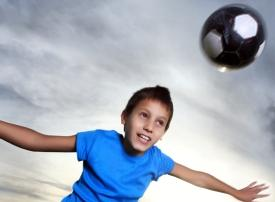 Start youth soccer players early with head ball technique.
